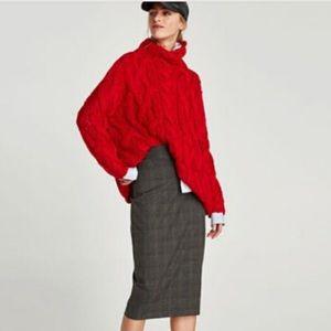 Zara, brown, copper, gray sz XS pencil skirt
